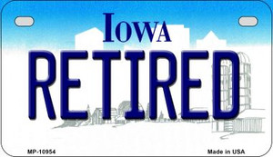Retired Iowa Wholesale Novelty Metal Motorcycle Plate MP-10954