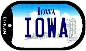 Iowa Wholesale Novelty Metal Dog Tag Necklace DT-10934