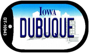 Dubuque Iowa Wholesale Novelty Metal Dog Tag Necklace DT-10943