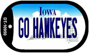 Go Hawkeyes Iowa Wholesale Novelty Metal Dog Tag Necklace DT-10950