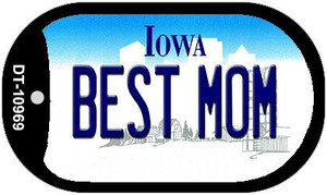 Best Mom Iowa Wholesale Novelty Metal Dog Tag Necklace DT-10969