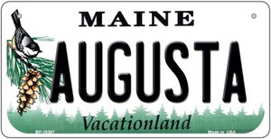 Augusta Maine Wholesale Novelty Metal Bicycle Plate BP-10387
