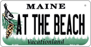 At The Beach Maine Wholesale Novelty Metal Bicycle Plate BP-10400