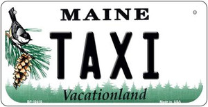 Taxi Maine Wholesale Novelty Metal Bicycle Plate BP-10415