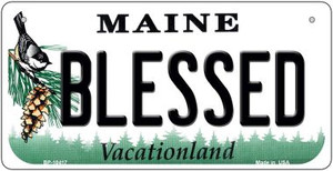 Blessed Maine Wholesale Novelty Metal Bicycle Plate BP-10417