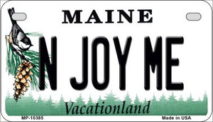 N Joy ME Maine Wholesale Novelty Metal Motorcycle Plate MP-10385