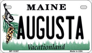 Augusta Maine Wholesale Novelty Metal Motorcycle Plate MP-10387