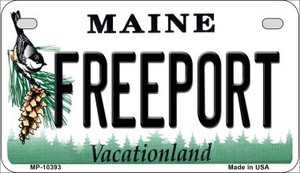 Freeport Maine Wholesale Novelty Metal Motorcycle Plate MP-10393