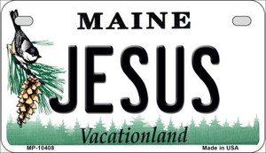 Jesus Maine Wholesale Novelty Metal Motorcycle Plate MP-10408