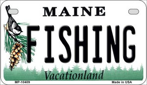 Fishing Maine Wholesale Novelty Metal Motorcycle Plate MP-10409