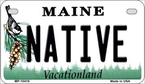 Native Maine Wholesale Novelty Metal Motorcycle Plate MP-10416