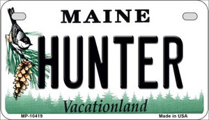Hunter Maine Wholesale Novelty Metal Motorcycle Plate MP-10419