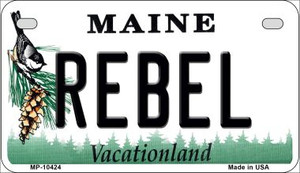 Rebel Maine Wholesale Novelty Metal Motorcycle Plate MP-10424