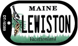 Lewiston Maine Wholesale Novelty Metal Dog Tag Necklace DT-10389