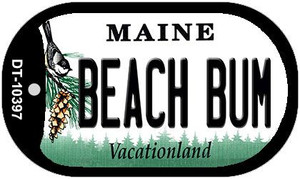 Beach Bum Maine Wholesale Novelty Metal Dog Tag Necklace DT-10397