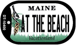 At The Beach Maine Wholesale Novelty Metal Dog Tag Necklace DT-10400