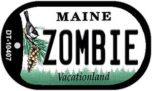Zombie Maine Wholesale Novelty Metal Dog Tag Necklace DT-10407