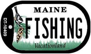 Fishing Maine Wholesale Novelty Metal Dog Tag Necklace DT-10409