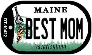 Best Mom Maine Wholesale Novelty Metal Dog Tag Necklace DT-10422