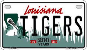 Tigers Louisiana Wholesale Novelty Metal Motorcycle Plate MP-6185