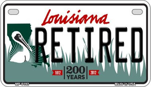 Retired Louisiana Wholesale Novelty Metal Motorcycle Plate MP-6192