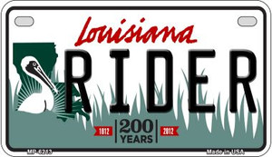 Rider Louisiana Wholesale Novelty Metal Motorcycle Plate MP-6213
