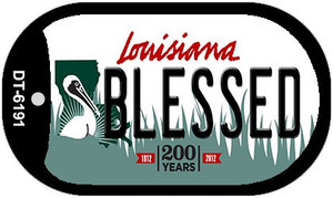 Blessed Louisiana Wholesale Novelty Metal Dog Tag Necklace DT-6191