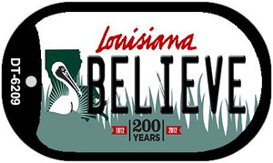 Believe Louisiana Wholesale Novelty Metal Dog Tag Necklace DT-6209
