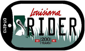 Rider Louisiana Wholesale Novelty Metal Dog Tag Necklace DT-6213