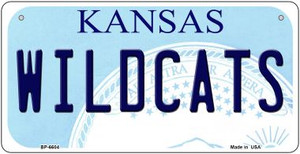 Wildcats Kansas Wholesale Novelty Metal Bicycle Plate BP-6604