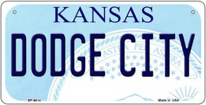 Dodge City Kansas Wholesale Novelty Metal Bicycle Plate BP-6614