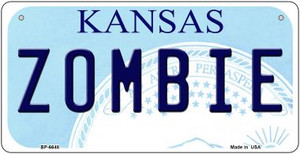 Zombie Kansas Wholesale Novelty Metal Bicycle Plate BP-6748