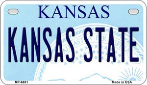 Kansas State University Kansas Wholesale Novelty Metal Motorcycle Plate