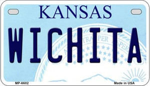 Wichita Kansas Wholesale Novelty Metal Motorcycle Plate MP-6602