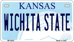 Wichita State Kansas Wholesale Novelty Metal Motorcycle Plate MP-6603