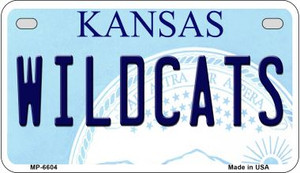 Wildcats Kansas Wholesale Novelty Metal Motorcycle Plate MP-6604