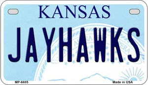 Jayhawks Kansas Wholesale Novelty Metal Motorcycle Plate MP-6605
