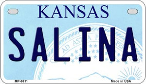 Salina Kansas Wholesale Novelty Metal Motorcycle Plate MP-6611