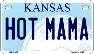 Hot Mama Kansas Wholesale Novelty Metal Motorcycle Plate MP-6615