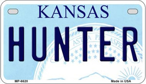 Hunter Kansas Wholesale Novelty Metal Motorcycle Plate MP-6620