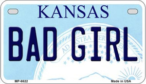 Bad Girl Kansas Wholesale Novelty Metal Motorcycle Plate MP-6622