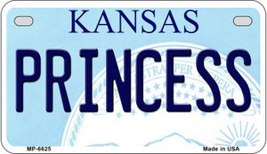 Princess Kansas Wholesale Novelty Metal Motorcycle Plate MP-6625