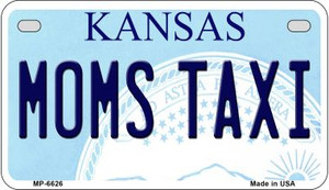 Moms Taxi Kansas Wholesale Novelty Metal Motorcycle Plate MP-6626
