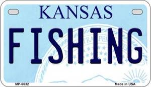 Fishing Kansas Wholesale Novelty Metal Motorcycle Plate MP-6632