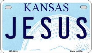 Jesus Kansas Wholesale Novelty Metal Motorcycle Plate MP-6633