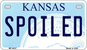 Spoiled Kansas Wholesale Novelty Metal Motorcycle Plate MP-6637