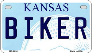 Biker Kansas Wholesale Novelty Metal Motorcycle Plate MP-6638