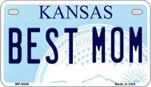Best Mom Kansas Wholesale Novelty Metal Motorcycle Plate MP-6646