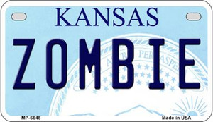 Zombie Kansas Wholesale Novelty Metal Motorcycle Plate MP-6748