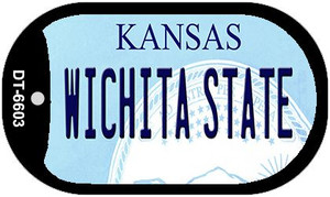 Wichita State Kansas Wholesale Novelty Metal Dog Tag Necklace DT-6603